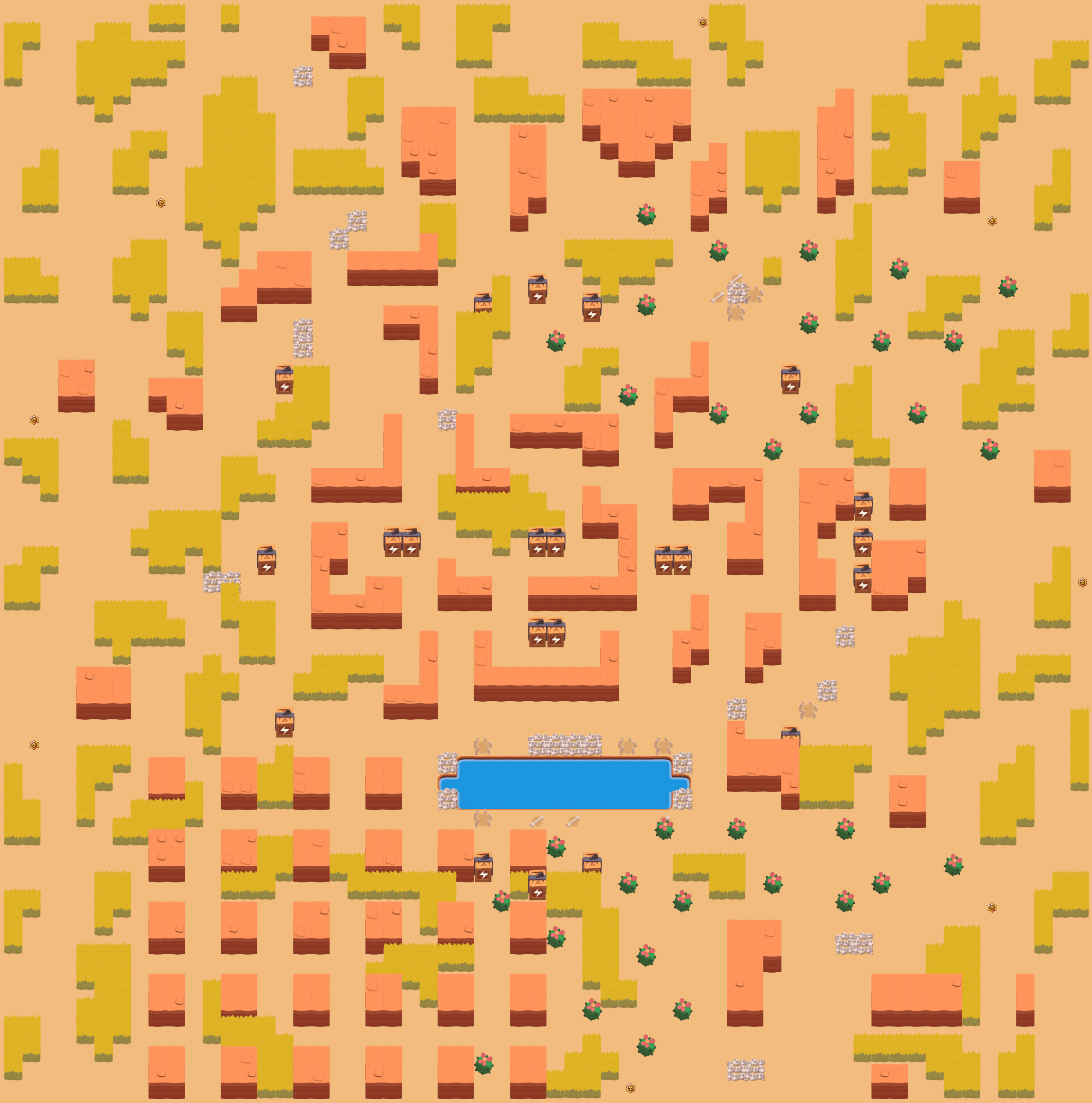 Карта SKULL CREEK в режиме Конфронтация (Showdown)