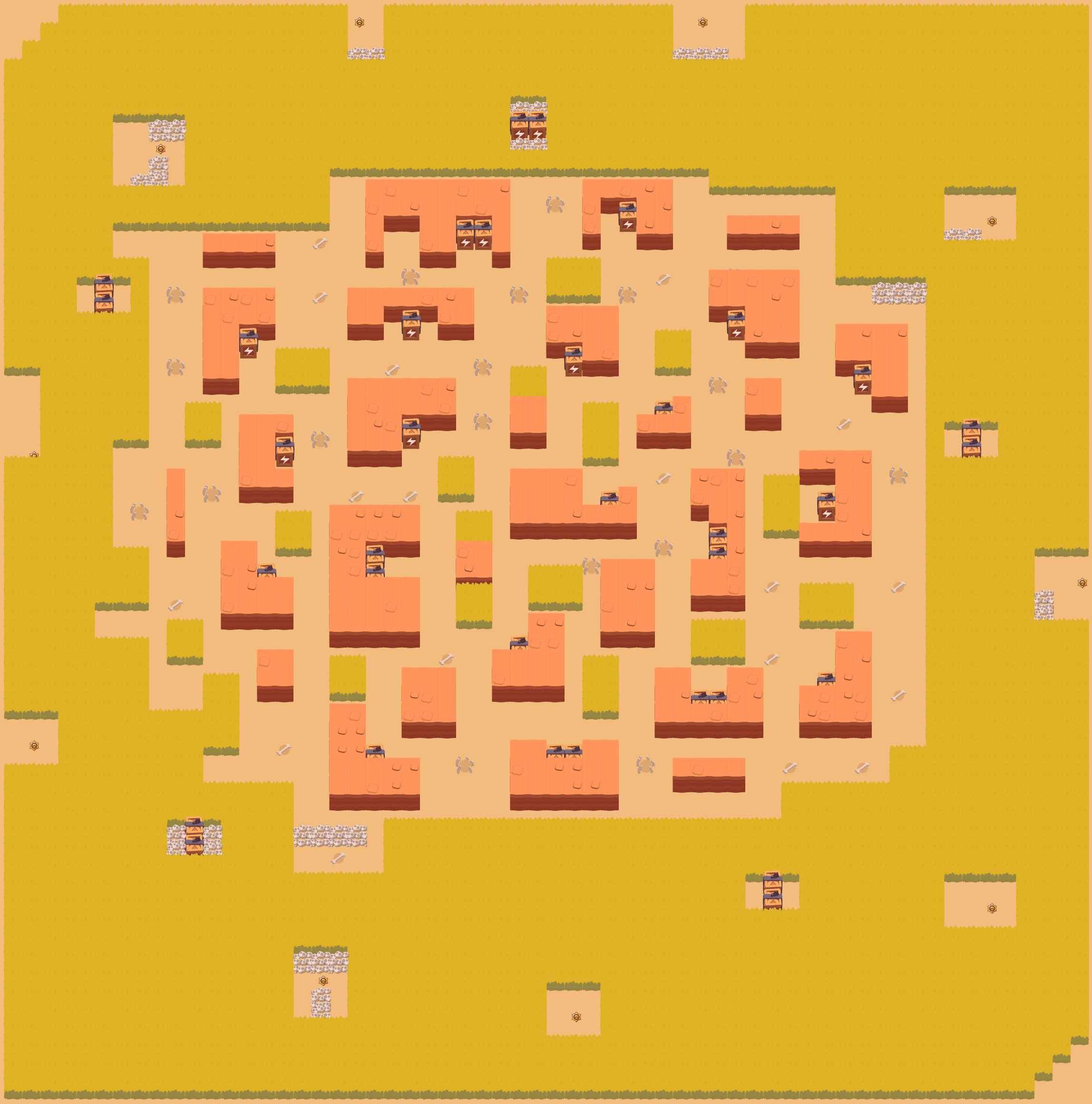 Карта STORMY PLAINS в режиме Конфронтация (Showdown)