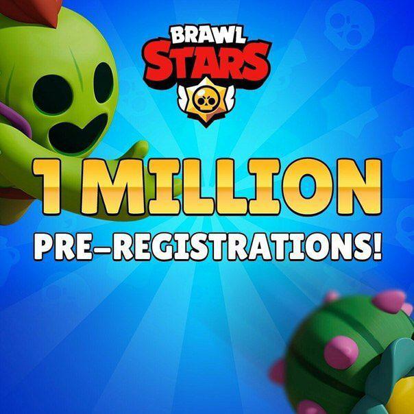 Уже 1 миллион предварительных регистраций на игру Brawl Stars